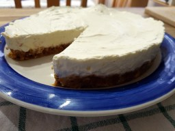 Easy lime and ginger cheesecake